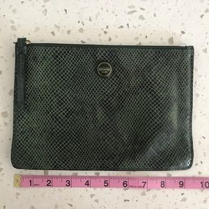 Small Green Snake Print Clutch from Coach